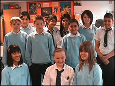 School Reporters at Matthew Moss High School in Rochdale, Lancashire