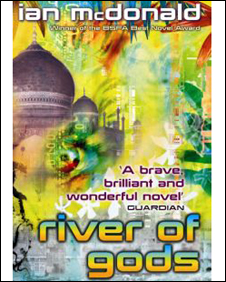 Cover art from River of Gods, Orion