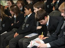 School Reporters at Abbey Grange CE High School in Leeds, West Yorkshire