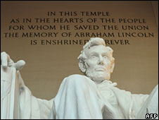 Statue of Lincoln at the Lincoln Memorial, Washington DC