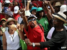 Protest in Fort-de-France, Martinique. File photo