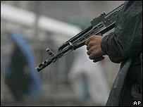 Polic�a afgano en Kabul
