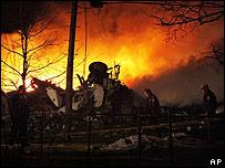 Casa incendiada en Buffalo