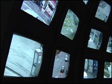 CCTV screens