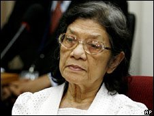 Ieng Thirith in court in 2008