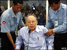 Ieng Sary in court in 2008
