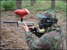 Paintballer. File photo