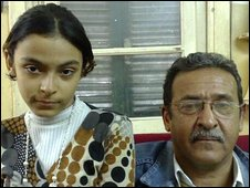 Maher El Gohary and his daughter