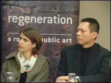 Claire Oboussier and Vong Phaophanit