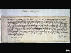 Written in 1477, the Valentine message is from Margery Brews of Norfolk to her fiance , John Paston. In it she tells him that she has asked her mother to put pressure on her father to increase her dowry while at the same time telling John that if he loves her, hell marry her anyway.