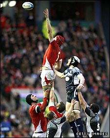 Alun Wyn Jones soars to claim line-out ball in last weekend's win against Scotland