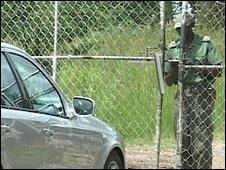 The gates of Zimbabwe's Chikurubi prison