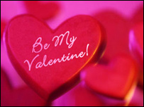 Сердечко с надписью Be My Valentine!