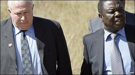 Roy Bennett (left) and Morgan Tsvangirai (right)