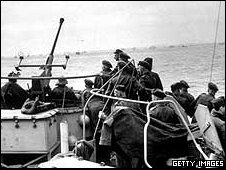 British troops on their way to Normandy to take part in the D-Day landings