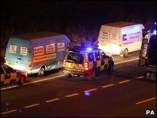 Counter-terrorism operation on the M65, near Preston, Lancashire in which nine men were arrested