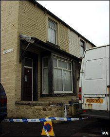The scene in Rectory Road, Burnley