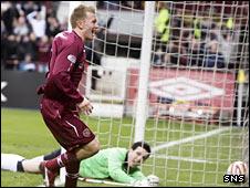 Hearts midfielder Andrew Driver