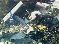 Wreckage of crashed plane - 13/2/2009