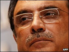 File photo of Asif Zardari, December 2008