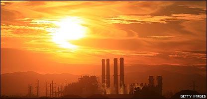 Planta de energía en California