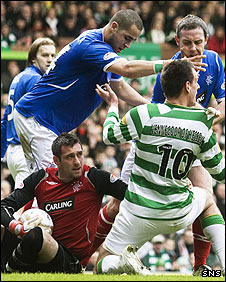 Allan McGregor gathers during a rare goalmouth scramble