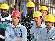 Chinese and Senegalese workers - 14/2/2009