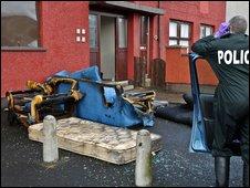 Flat damage (pic by J Kernoghan)
