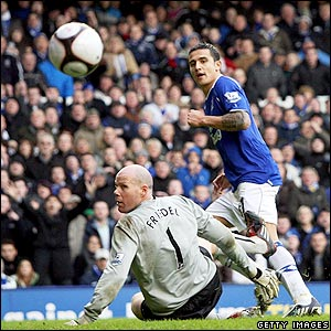 Tim Cahill wraps up the win for Everton