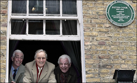 Jo Goodman, Nicholas Parsons and Barry Cryer