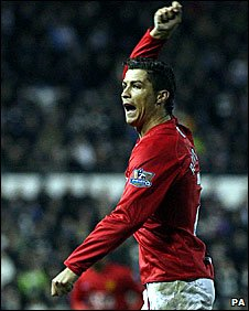 Manchester United's Cristiano Ronaldo