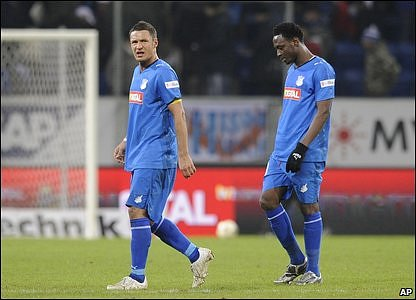 Hoffenheims Sejad Salihovic and Chinedu Obasi