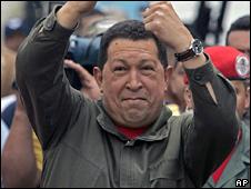 Venezuelan President Hugo Chavez, 15 February 2009
