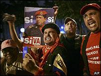 Simpatizantes del gobierno de Venezuela.