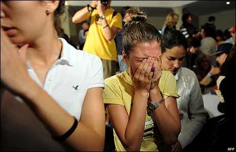 Desilusi�n de opositora venezolana.