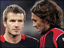 David Beckham and Paolo Maldini