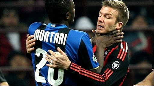Sulley Muntari and David Beckham