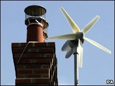 Domestic wind turbine (Image: PA)