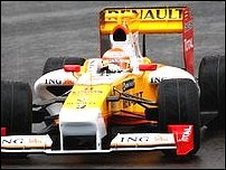 Nelson Piquet testing Renault's R29