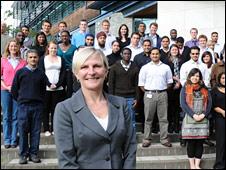Liz Kay and students