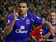 Everton's Tim Cahill