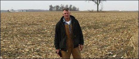 Farmer David Runyan in his field