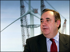 Alex Salmond at launch [Pic: Firstpix]