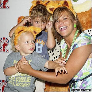 Jade Goody and her sons, Bobby Jack and Freddie