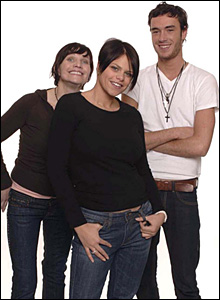 Jade Goody, her boyfriend Jack Tweedy and her mother Jackiey Budden