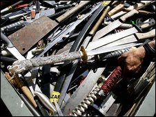 Knives collected during a knife amnesty in London