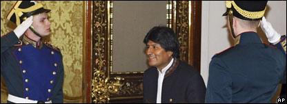 El presidente de Bolivia, Evo Morales, en el Kremlin