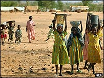 Refugiados en Darfur