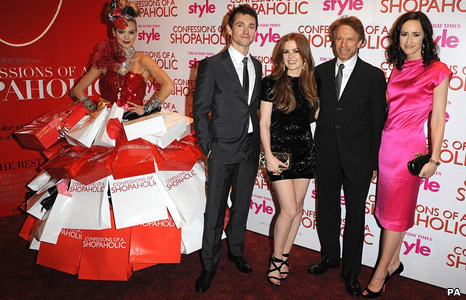 Hugh Dancy, Isla Fisher, producer Jerry Bruckheimer and the book's author Sophie Kinsella