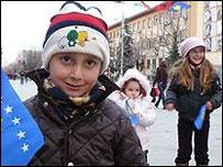 Дети в Косове